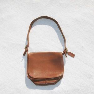 Vintage Coach Camel Brown Flap Bag